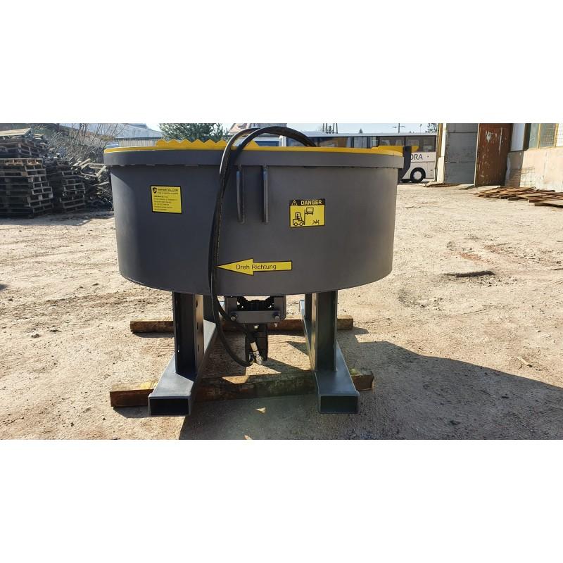 1200 l  Betonmischer Mischer Zwangsmischer Getreide mit hydraulischem Antrieb
