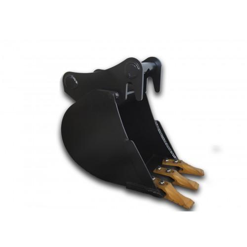 25 cm Tieflöffel für Minibagger 1,1 – 1,8 Tonnen