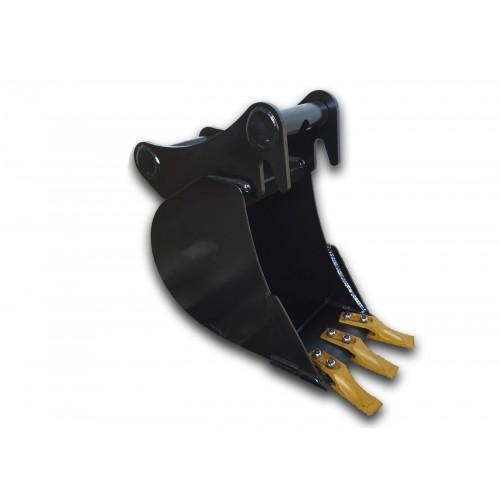 25 cm Tieflöffel für Minibagger 1,9 – 2,5 Tonnen